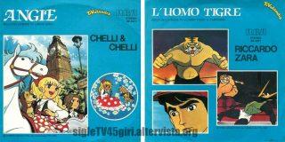 Angie / L'Uomo Tigre disco vinile 45 giri