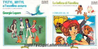 Tyltyl Mytyl e l'uccellino azzurro / La ballata di Fiorellino disco vinile 45 giri