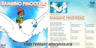 Bambino Pinocchio disco vinile 45 giri
