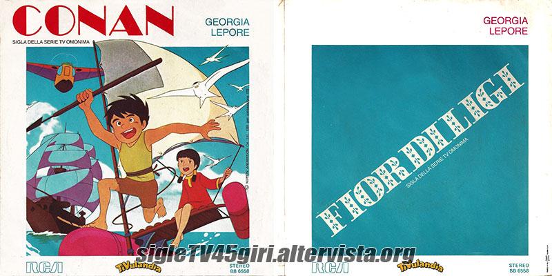 Conan disco vinile giri sigla cartone animato omonimo