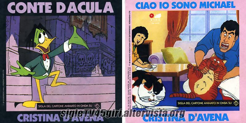 Vinile 45 giri Conte Dacula / Ciao io sono Michael