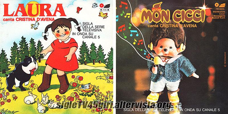 Laura disco vinile 45 giri sigla cartone animato omonimo