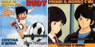 Palla al centro per Rudy / Prendi il mondo e vai disco vinile 45 giri