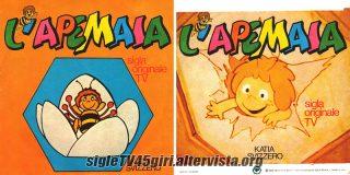 L'Apemaia / Flip disco vinile 45 giri versione arancione