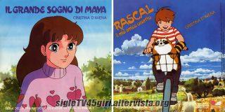 Il grande sogno di Maya / Rascal - Il mio amico orsetto disco vinile 45 giri