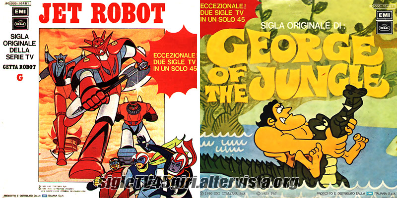 Jet robot disco vinile 45 giri sigla cartone animato getta robot