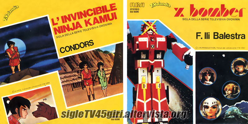 Vinile 45 giri L'invincibile ninja Kamui / X Bomber