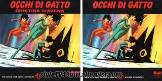 Occhi di Gatto / Occhi di Gatto (strumentale) disco vinile 45 giri