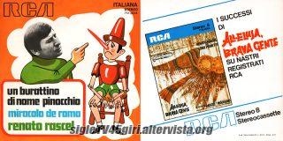 Un burattino di nome Pinocchio / Miracolo de Roma disco vinile 45 giri