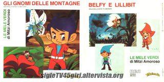 Gli gnomi delle montagne / Belfy e Lillibit disco vinile 45 giri