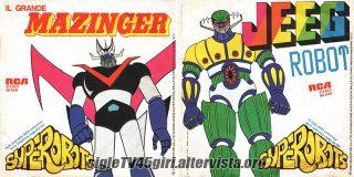Il Grande Mazinger / Jeeg Robot disco vinile 45 giri