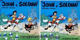 John e Solfami / La scuola dei Puffi disco vinile 45 giri