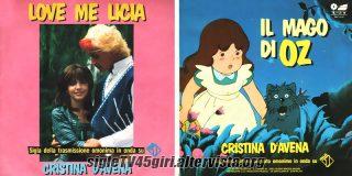 Love me Licia / Il mago di Oz disco vinile 45 giri
