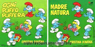 Ogni puffo pufferà / Madre natura disco vinile 45 giri