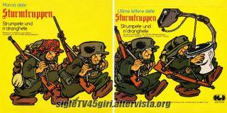 Marcia delle Sturmtruppen / Ultime lettere delle Sturmtruppen disco vinile 45 giri