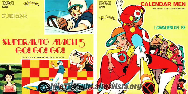 Vinile 45 giri Superauto Mach 5 Go! Go! Go! / Calendar Men